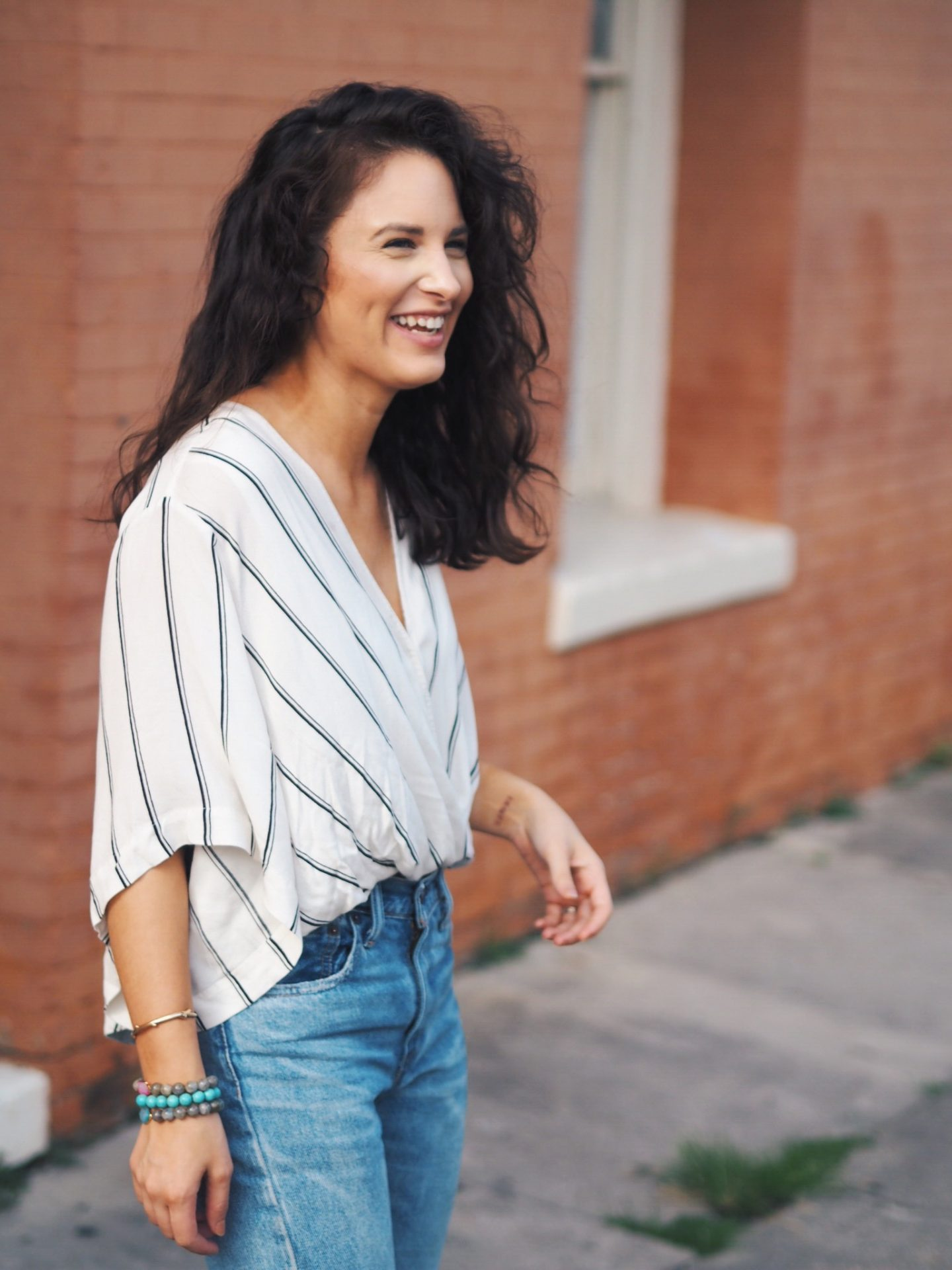 free people. striped top. casual top. casual look. mom style. everyday look