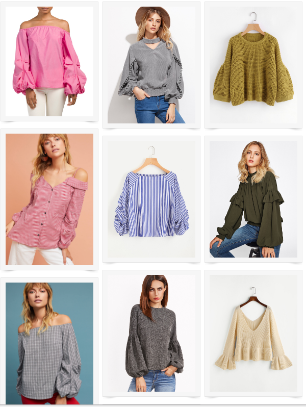 exaggerated sleeves